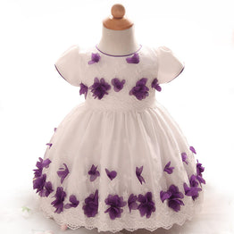 cute flower design casual tutu dress for baby girls