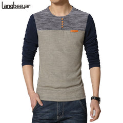 O-Neck Slim Fit Long Sleeve T Shirt for Men