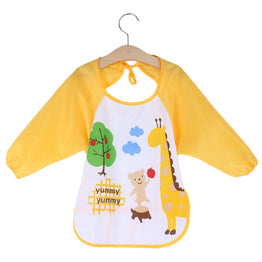 Baby Bibs Toddler Waterproof Long Sleeve Bib