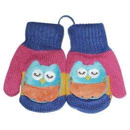 Toon Kids Gloves Cute Owl Infant Mitten Warm Boys Girls Mittens Toddler Pack