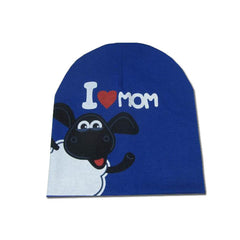 Adorable I LOVE MAMA PAPA Baby Hat Kids Cotton Beanie Boy Girl Crochet Bonnet Cap