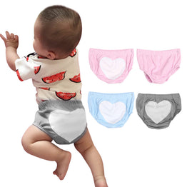 Infant Underwear Summer Male and Female Baby Love Cotton briefs