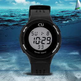 Multifunction 30 meters Waterproof CU new LED sports watch