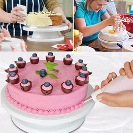 27.5cm Rotating Cake Stand for Decorating Icing
