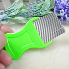 Pets flea comb The cat and dog comb lice stainless steel needle
