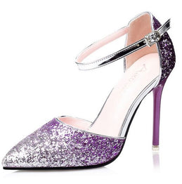 Shiny High Heels Glittering Pump Shoes for Women
