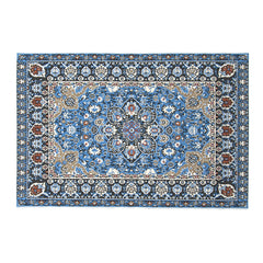Miniature Embroidered Carpet Woven Floral Floor Coverings Rug Gifts Decoration 10*17cm 1:12