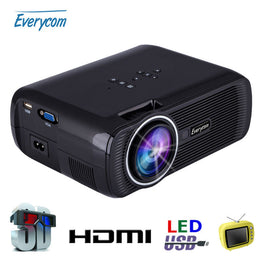 Everycom X7 Mini Projector 1800 TV Home Theater LED Projector