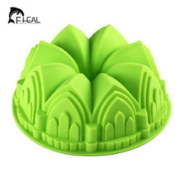 Large Castle Crown Silicone DIY Cake Mold Microwave Baking Tools