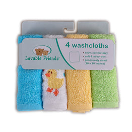 The 4-pack Baby Bath Super-soft Washcloths Towels