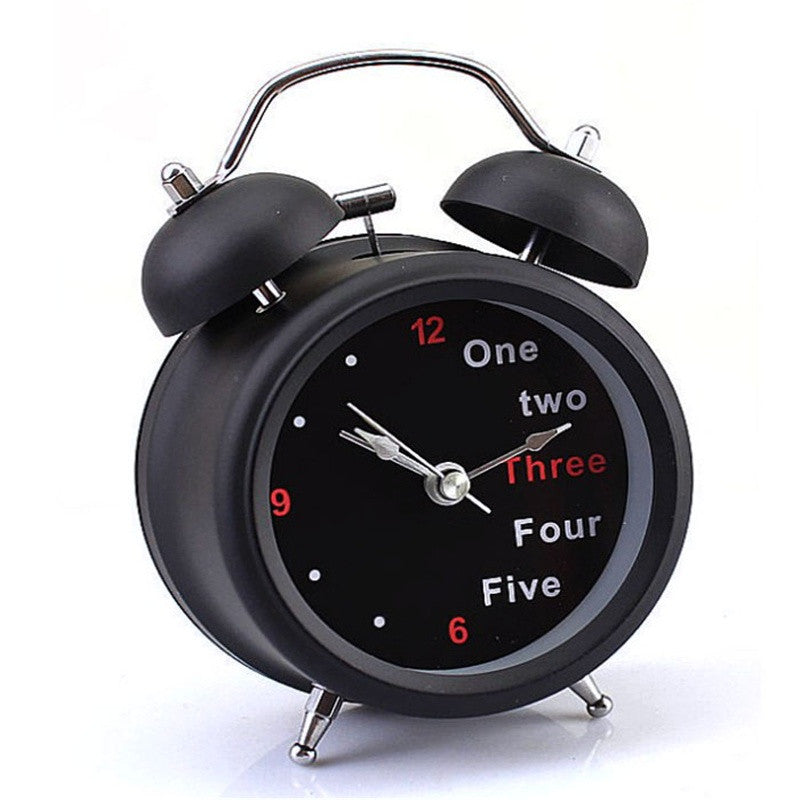 Popular Classic Number/English Retro Double Bell Table Alarm
