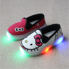 Cartoon Shoes with Lights For Girls / Boys