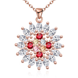 Colorful Zircon Austrian Crystal Charm Necklace For Women Fashion