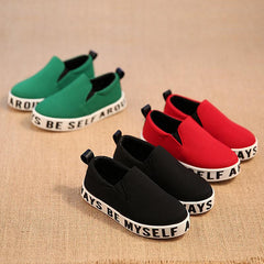 Breathable Canvas Letters Girls Sneakers Casual Shoes