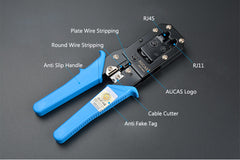 AUCAS Multifunction RJ11 RJ45 crimper network tools kit RJ45 Crimping tool
