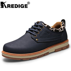 Fashion Men casual formal work safety genuine leather shoes