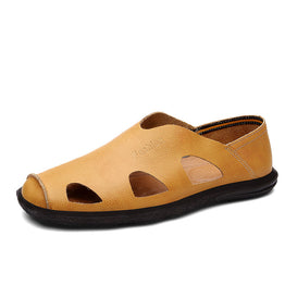 Men's Genuine Leather Beach Sandal breathable Sandal
