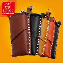 Leather Barber Rectangle Hair Scissor Bag Salon Hairdressing