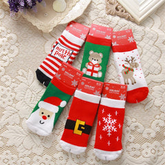 1-10years Children Cotton mold Cartoon Socks Boy Girl Baby Christmas socks