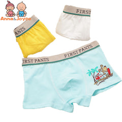 4 pcs/parcel Boys Underwear Boxer astounding cotton modular undies