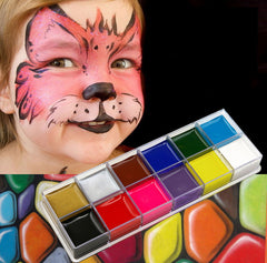 Face Paint Flash Tattoo Non-toxic Halloween Crayon Party 12 Color