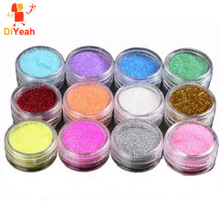 Glitter Tattoo Body Powder Shimmer Tattoos Nail Art Acrylic 12 colors /lot