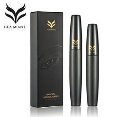Mascara Makeup Set Black 3D Mascara + Natural Fiber Eye Lash