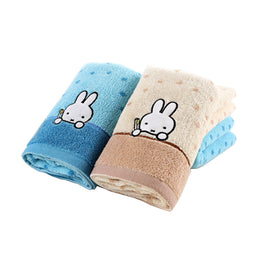 Cute Bunny Pattern Cotton Soft Absorbent Hand Dry Towel