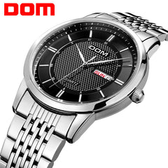 Men Watches Luxury waterproof quartz stainless steel Watch