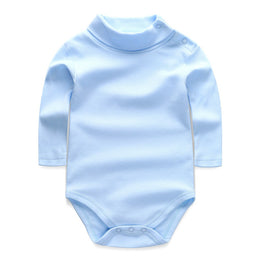 Turn-down Bodysuits with Collar & Long Sleeve Baby Boy/Girl Clothing Set