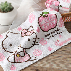 Cat Kids Cotton Face Hand Towel 30*20cm Cute Kitty