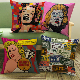 Decoration Cushion Cover Pillow Case Pop Animation Art Painting