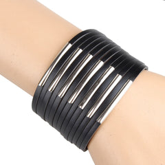 Casual PU leather Unisex bracelets