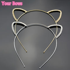 1PC Stylish Women Girls Cat Ear Headband Hair Bands Children Rhinestone
