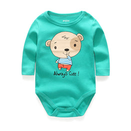 The New Round Collar Long Sleeves Baby Rompers for Newborn Unisex