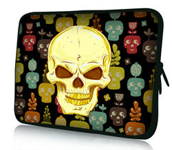 Portable PC and Tablet cool skull delicate neoprene portable PC tablet