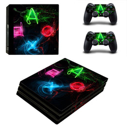 Game Symbol Design Vinyl Decal Skin Protector Sticker for PS4 Pro Console