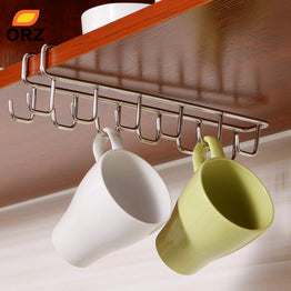 Stainless Steel Kitchen Cups Storage Rack