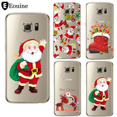 Christmas Santa Claus Coque For Samsung Galaxy Case Cover