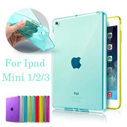 Transparent Skin Protector Case for Apple iPad Mini 1 2 3 Luxury Tablet Bags