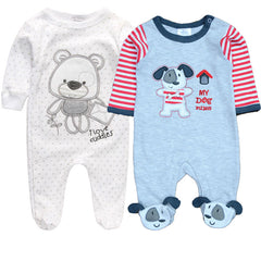 2 Pcs/Lot Unisex Baby Rompers Sleepwear