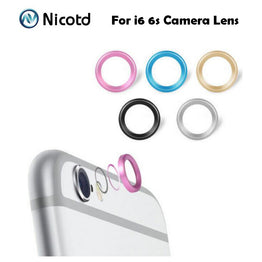 "Rear Camera Glass Metal Lens Protector Ring For iphone 6 6s 4.7"" & plus 5.5"""