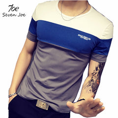 Seven Joe.New Summer homme mens T-shirt Slim O-Neck cotton