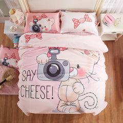 Soft Polyester Printed 4pcs/3pcs Bedding Set