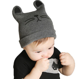 Autumn Winter Cotton Beanie Knitted Baby Hat