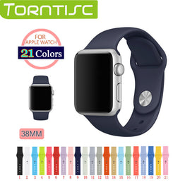 38mm Silicone Colorful Watch Band For Apple Watch