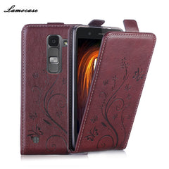 Flip Leather Case For LG K8 LTE K350E K350N K350