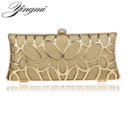 New Arrival Rhinestone Metal Clutch with Chain for Women
