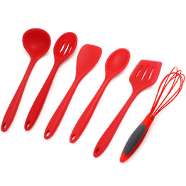 Kitchen Spoon, Spatula, Egg Beater, Heat-Resistant Silicone coating Nylon Cooking Tools 1pc
