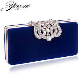 Rhinestone Crystal & Diamond Luxury Clutch Bag with Chain for Women